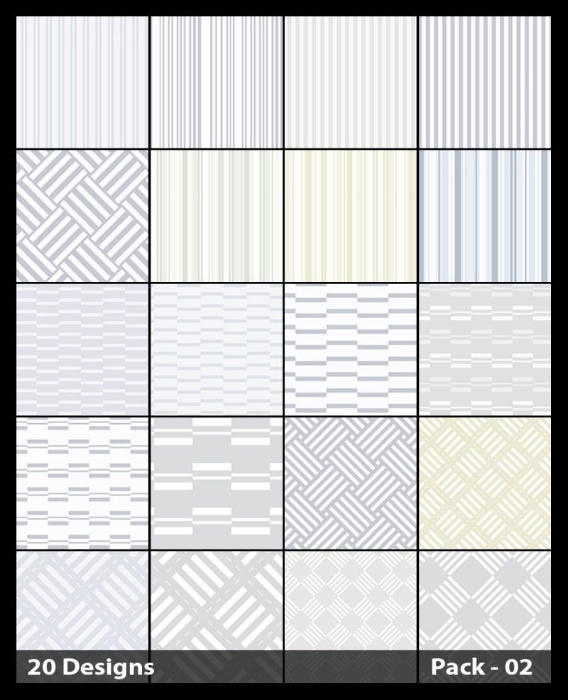 20 White Stripes Pattern Vector Pack 02