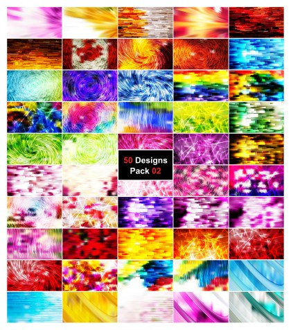 50 Abstract Lines Background Vector Illustrator Pack 02