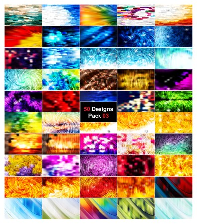 50 Abstract Lines Background Designs Vector Pack 03