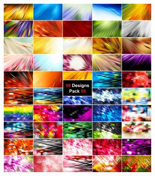 50 Abstract Lines Background Vector Pack 05