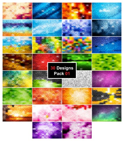 30 Abstract Texture Background Vector Pack 01
