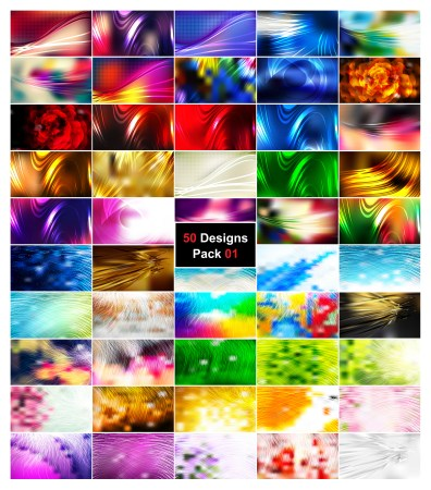 50 Abstract Illustrator Background Designs Vector Pack 01