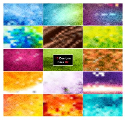 15 Abstract Texture Background Vector Pack 02