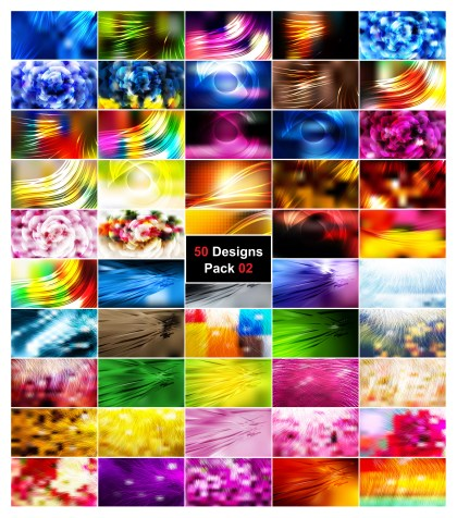 50 Abstract Illustrator Background Designs Vector Pack 02