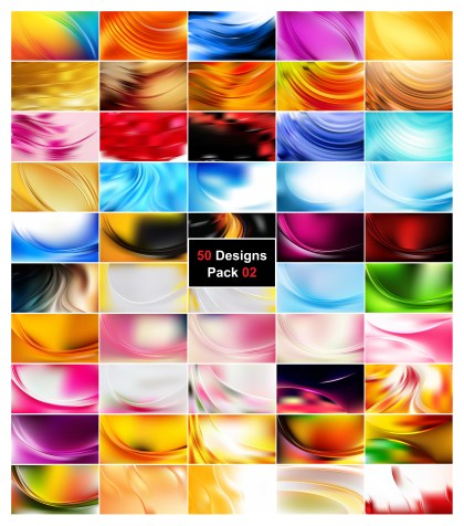 50 Wavy Background Vector Pack 02