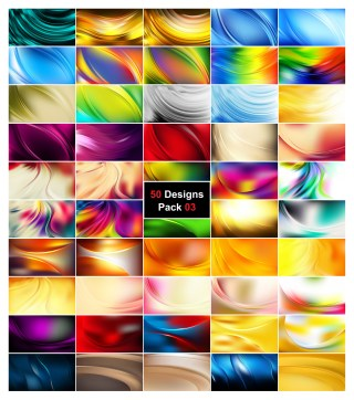 50 Curve Background Vector Pack 03