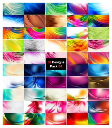 50 Abstract Wave Background Vector Pack 04