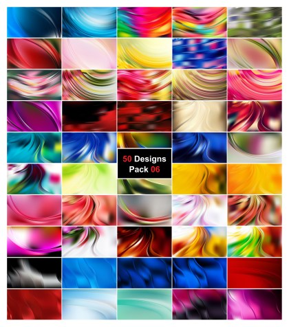 50 Abstract Curve Background Vector Pack 06