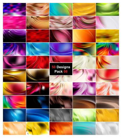 50 Wavy Background Vector Pack 08