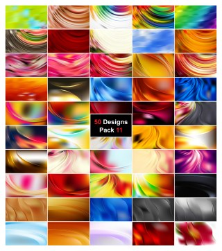 50 Abstract Wavy Background Vector Pack 11