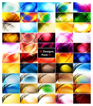 50 Curve Background Vector Illustrator Pack 01