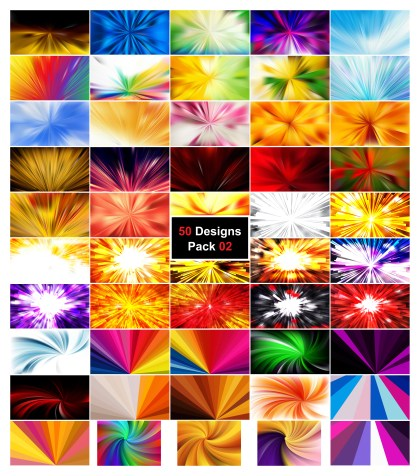 50 Rays Background Vector Pack 02