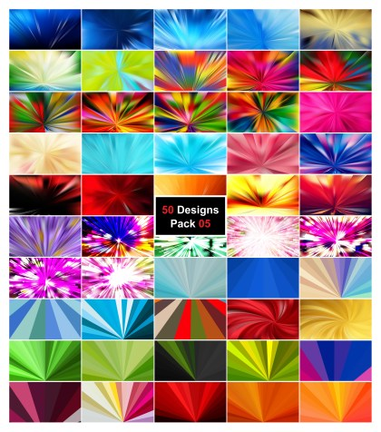 50 Radial Stripes Background Vector Pack 05