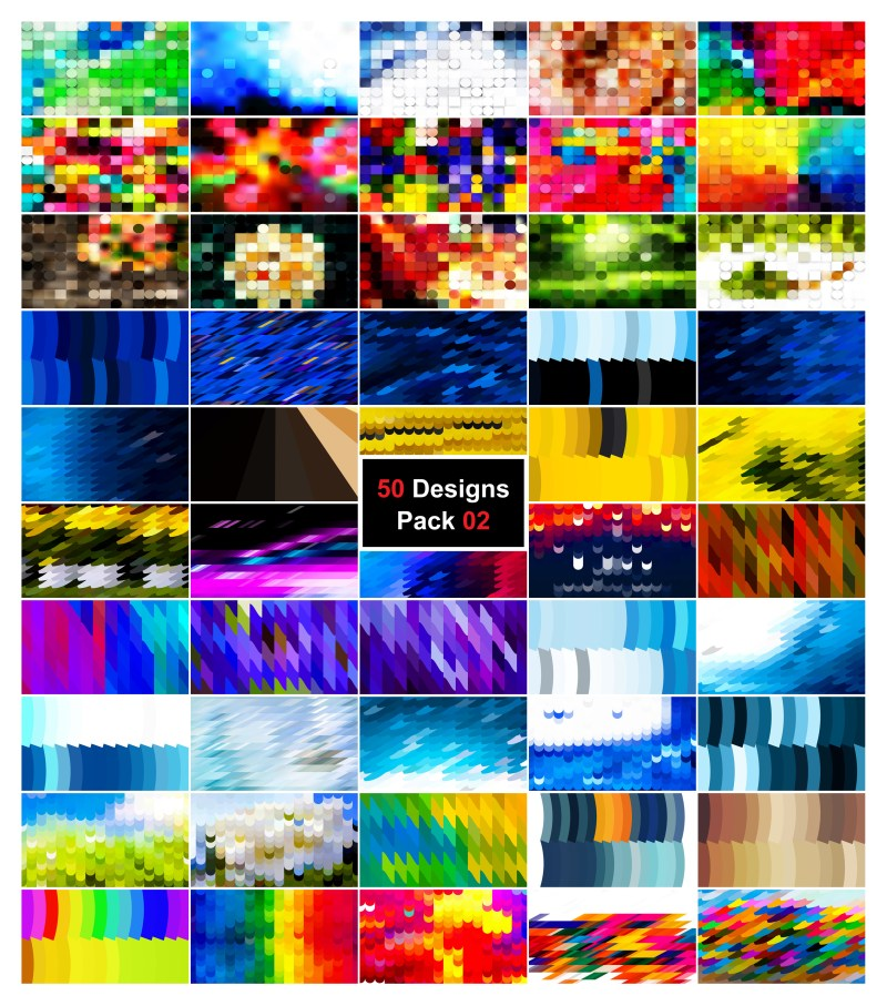 50 Geometric Shapes Background Vector Pack 02