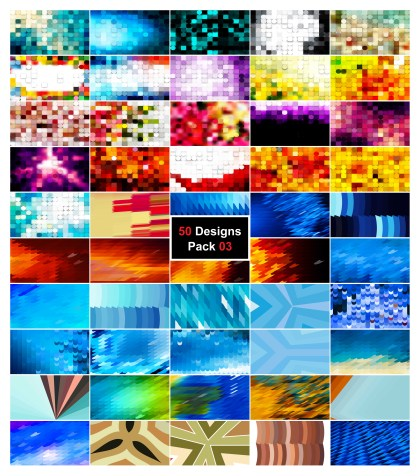 50 Abstract Geometric Shapes Background Vector Pack 03