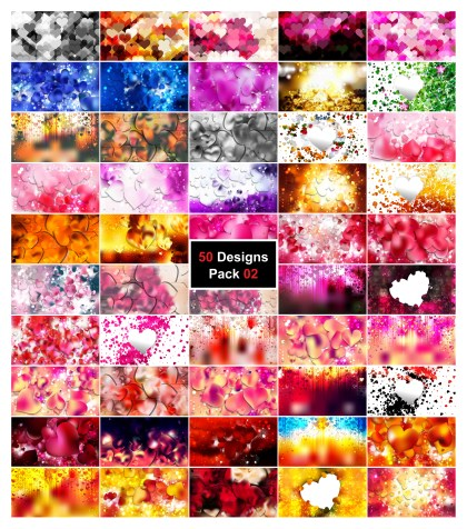 50 Valentines Day Background Vector Pack 02