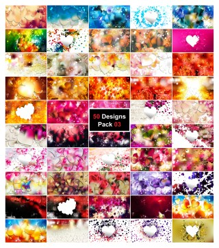 50 Valentines Background Vector Pack 03