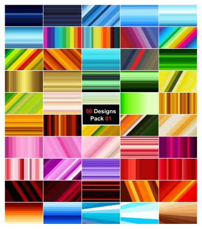 50 Stripes Background Vector Pack 01