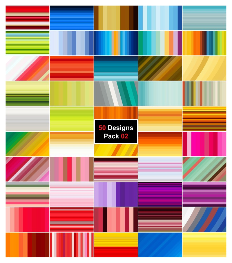 50 Stripes Background Vector Pack 02
