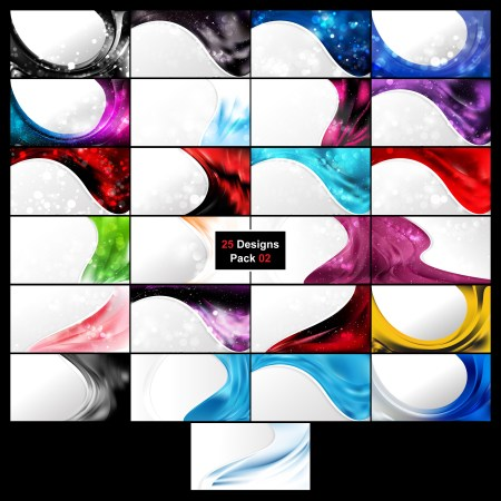 25 Abstract Wave Business Background Vector Pack 02