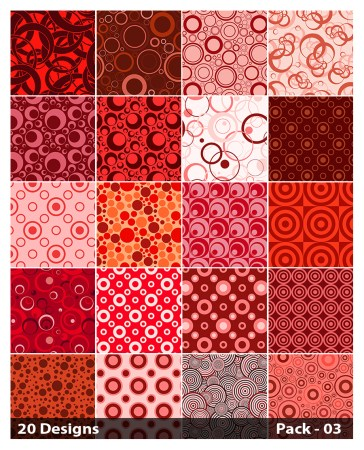 20 Red Circle Pattern Background Vector Pack 03