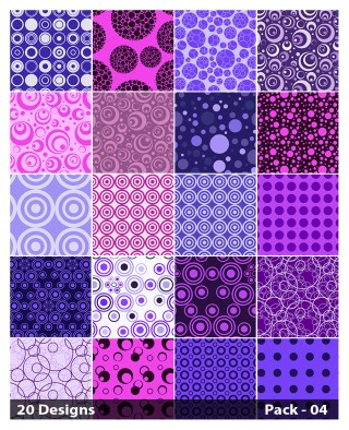 20 Purple Circle Background Pattern Vector Pack 04