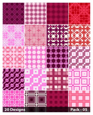 20 Pink Square Background Pattern Vector Pack 05