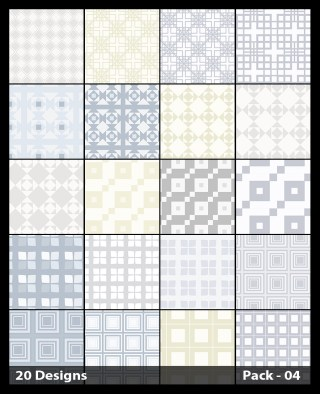 20 White Square Background Pattern Vector Pack 04