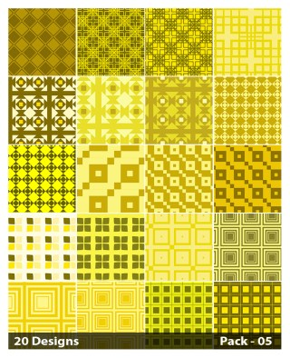 20 Yellow Square Background Pattern Vector Pack 05