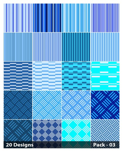 20 Blue Stripes Pattern Background Vector Pack 03