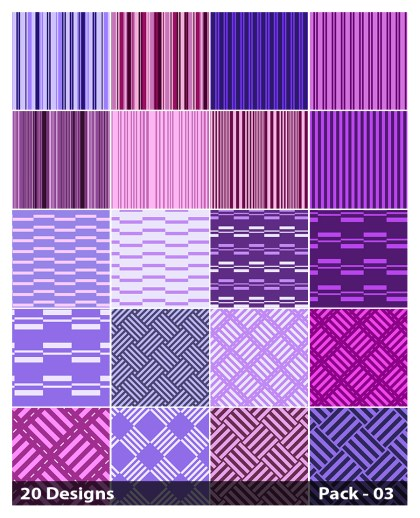 20 Purple Stripes Pattern Background Vector Pack 03