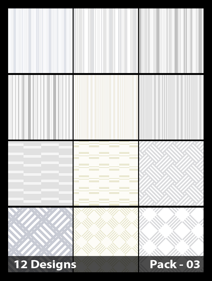 12 White Stripes Pattern Background Vector Pack 03