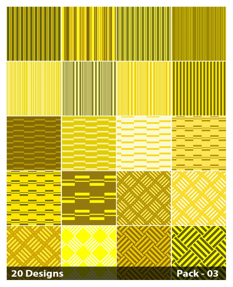 20 Yellow Stripes Pattern Background Vector Pack 03