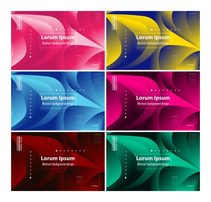 6 Abstract Background Vector Pack
