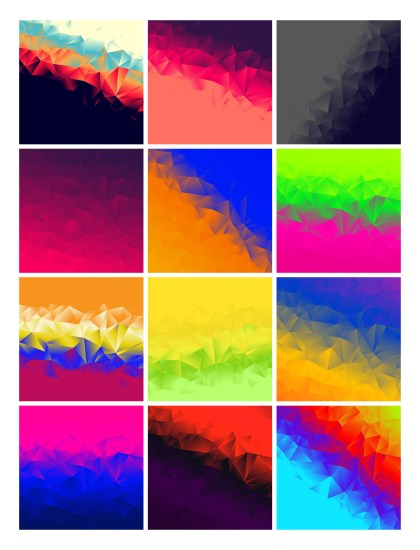 12 Abstract Graphic Background Vector Pack