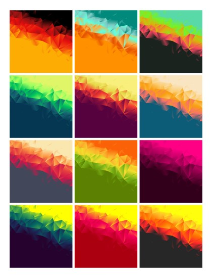 12 Abstract Background Illustrator Pack