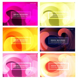 6 Abstract Liquid Color Background Vector Pack