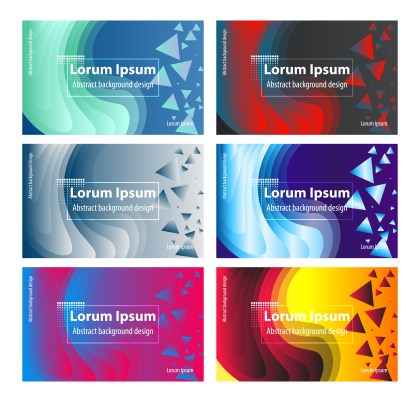 6 Fluid Color Background Vector Pack