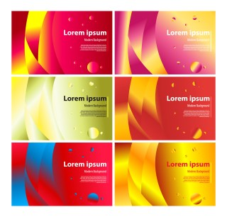 6 Modern Liquid Color Background Vector Pack