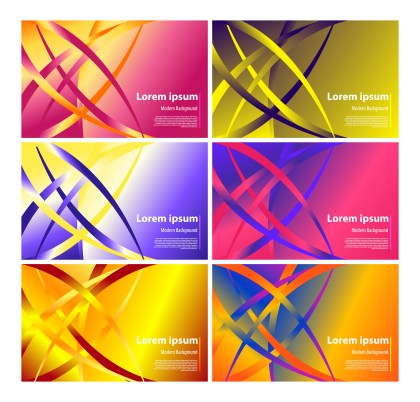6 Liquid Gradient Background Vector Pack