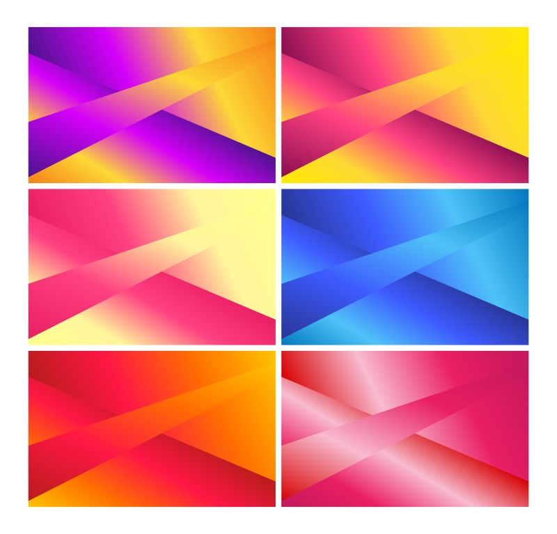 6 Abstract Liquid Color Fluid Gradient Geometric Background Vector Pack
