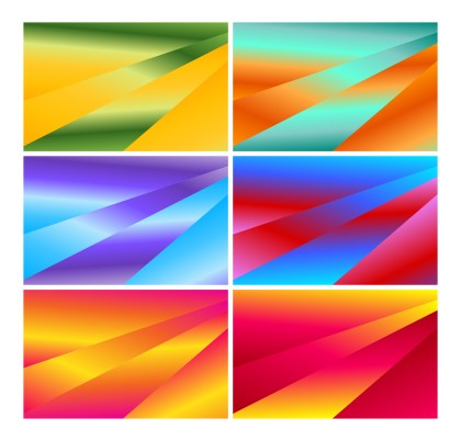 6 Abstract Liquid Geometric Poster Background Vector Pack