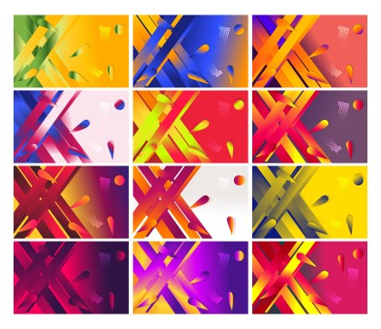 12 Fluid Color Gradient Shapes Composition Background Vector Pack