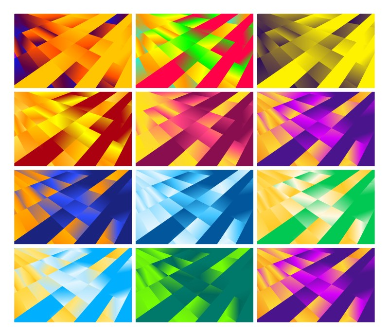 12 Fluid Gradient Geometric Abstract Background Vector Pack