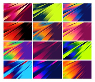 12 Fluid Gradient Shapes Composition Futuristic Design Background Vector Pack