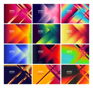 12 Abstract Modern Fluid Gradient Geometric Background Illustrator Pack