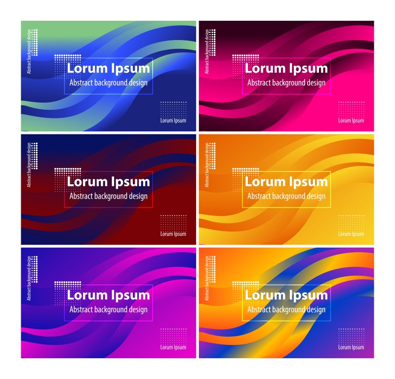 6 Abstract Liquid Color Wavy Background Vector Pack