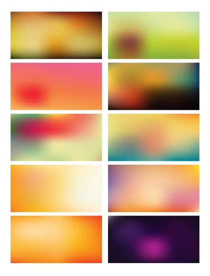 Abstract  Vector Multicolored Blurred Background Set 46