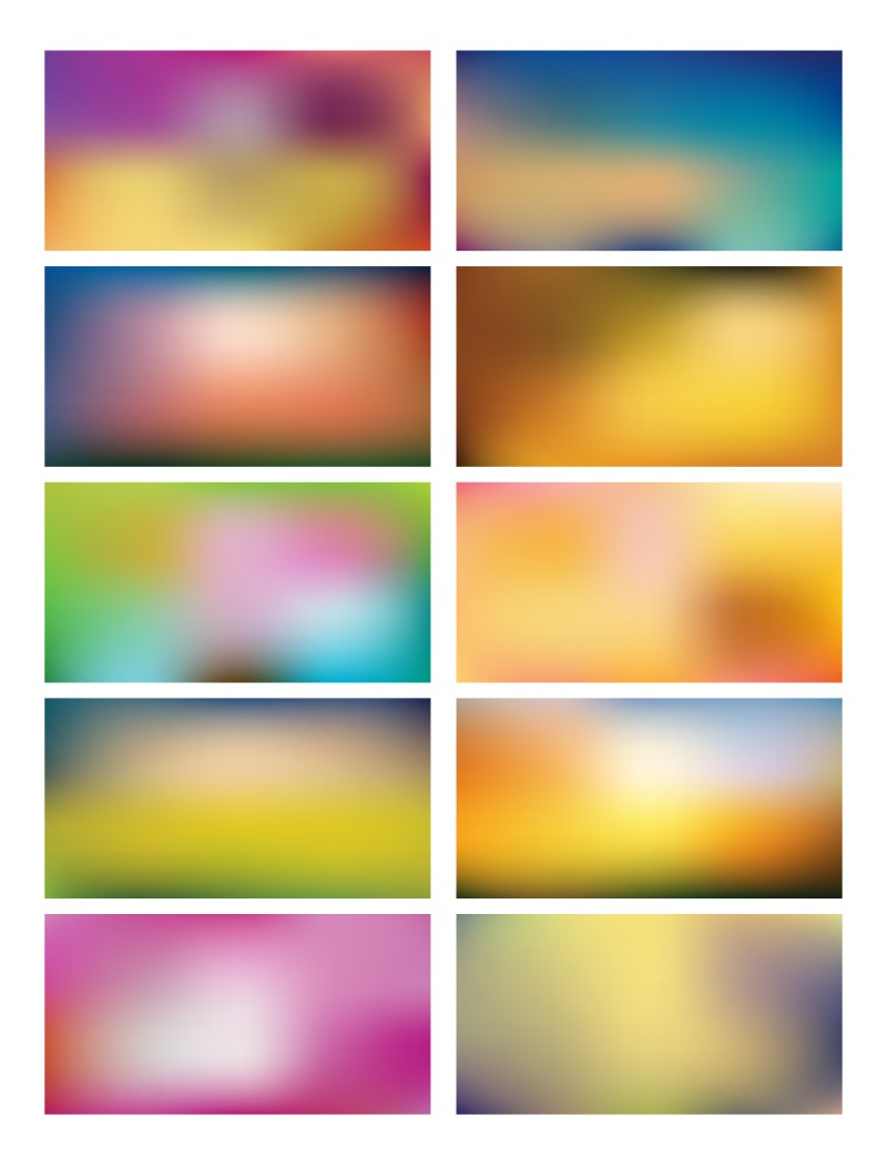 Multicolored Blurred Background Set 58