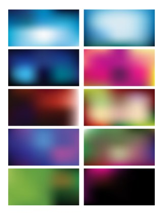 Colorful Blurred Backgrounds Vector Set 71